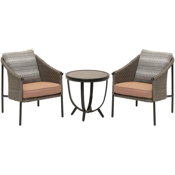 Islais 3 Piece Rattan Seating Group with Cushions by Bayou Breeze