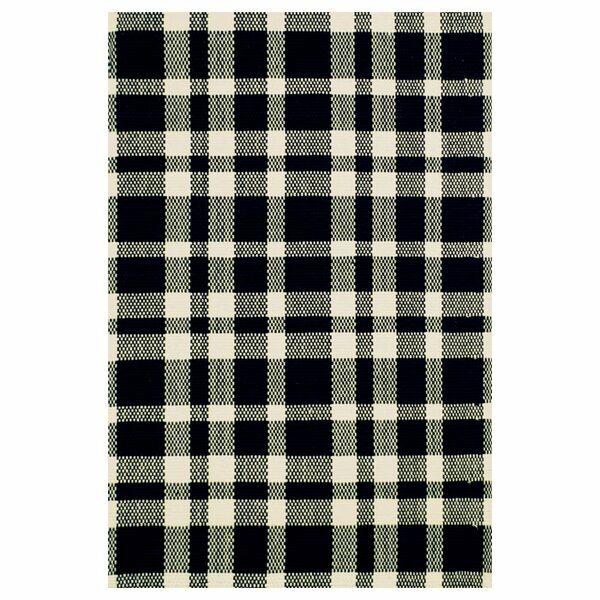 Hand Woven Cotton Black Area Rug by Dash and Albert Rugs