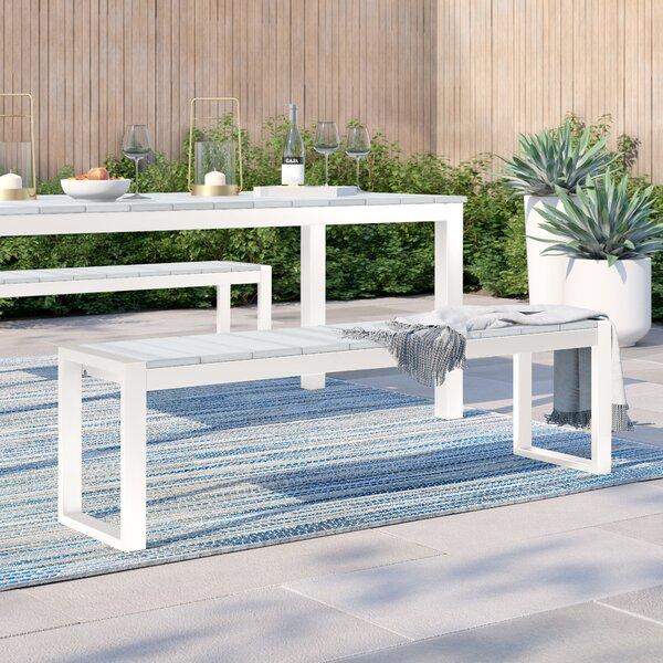 Gavin Modern Aluminum Picnic Bench by Foundstone Foundstone