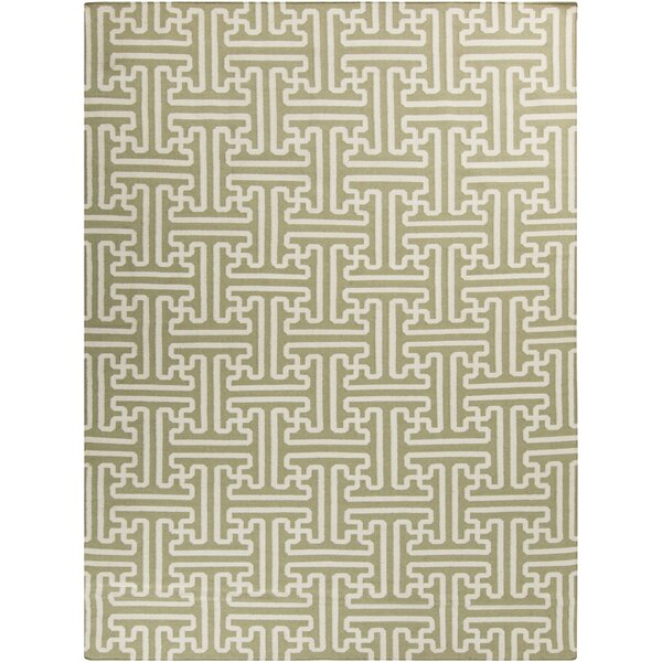Archive Green Geometric Area Rug by Smithsonian