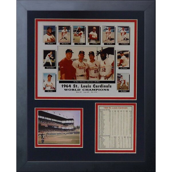 1964 St. Louis Cardinals Framed Photographic Print by Legends Never Die