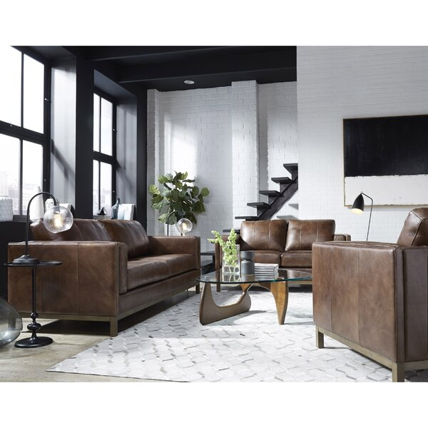 Tabor Leather Standard Configurable Living Room Set by 17 Stories 17 Stories