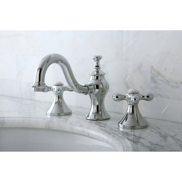 Vintage Widespread Bathroom Faucet with Drain Assembly