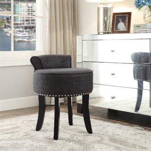 low vanity stool  Low Back Vanity Stool | Wayfair