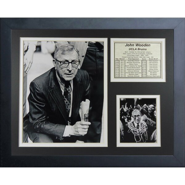 John Wooden UCLA Framed Memorabilia by Legends Never Die