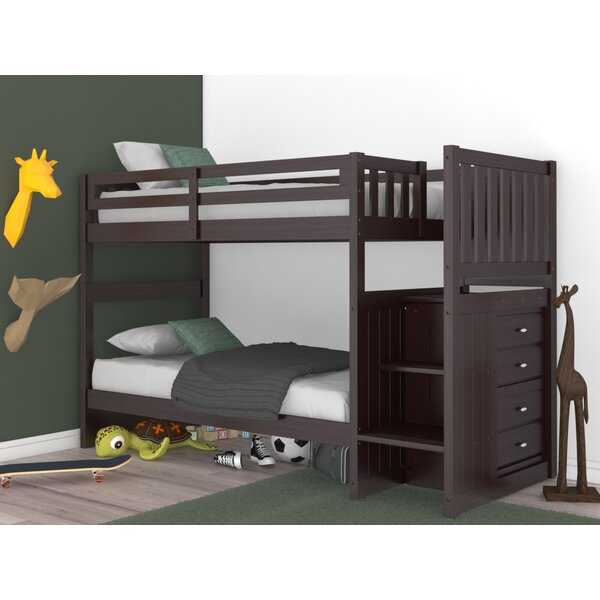 Gino Twin Over Twin Bunk Bed with 4 Drawers by Birch Lane™ Heritage