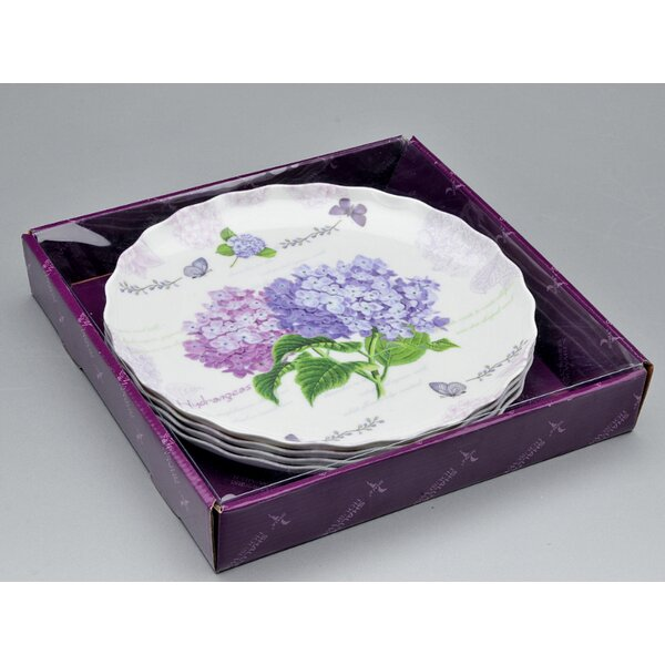Marengo 4 Piece Melamine Round Ruffle Serving Tray Set by August Grove