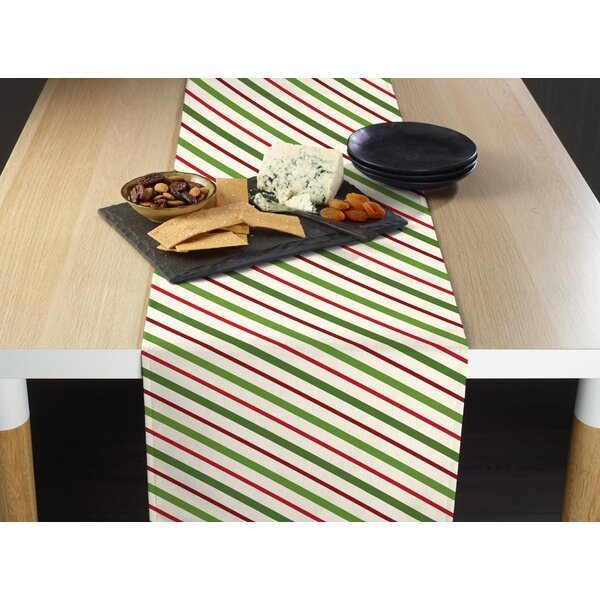 Englert Christmas and Diagonal Stripe Table Runner by The Holiday Aisle