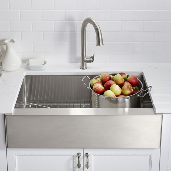 Strive 35.5 L x 21.25 W Self-Trimming Undermount Large Single-Bowl Kitchen Sink by Kohler