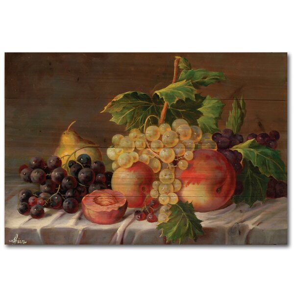 Grapes Painting Print Plaque by WGI-GALLERY