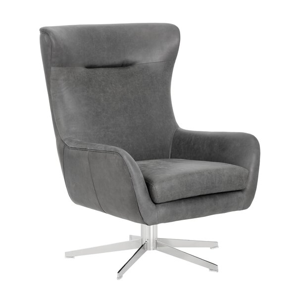 Nystrom Swivel Lounge Chair by Foundry Select