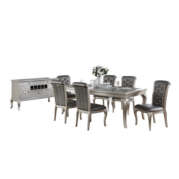 Maddison 8 Piece Extendable Dining Set by Rosdorf Park