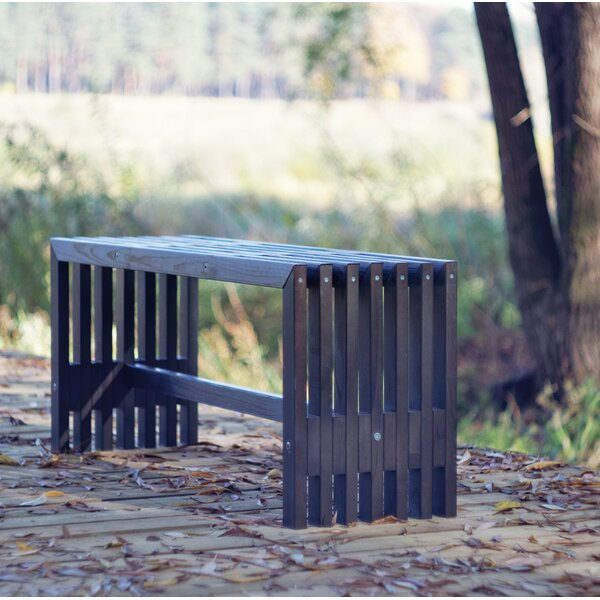Khalid Pine Garden Bench By Millwood Pines by Millwood Pines
