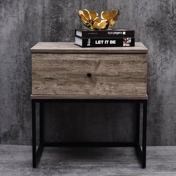 Parson Bedside 1 Drawer Nightstand by Union Rustic