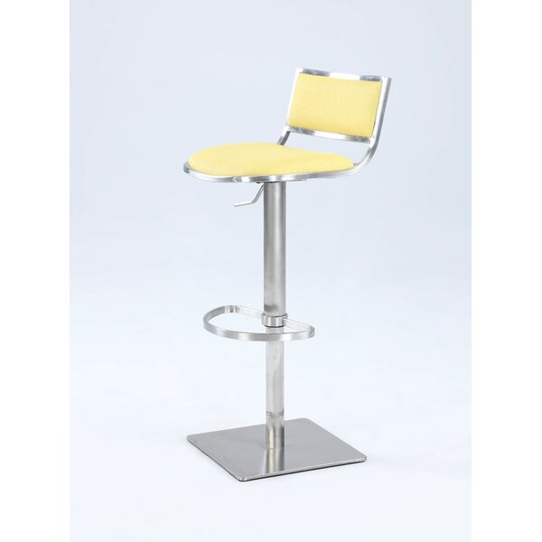 Burkey Adjustable Height Bar Stool by Orren Ellis