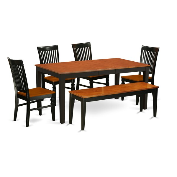 Pillar 6 Piece Extendable Dining Set by August Grove