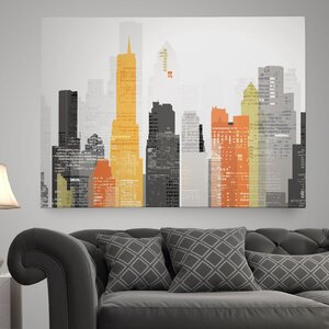 'Element City' by Katrina Craven Graphic Art on Wrapped Canvas by Wexford Home