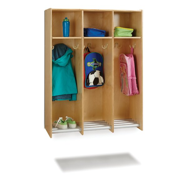 Hanging Locker 1 Tier 3 Wide Kids Locker by Jonti-Craft
