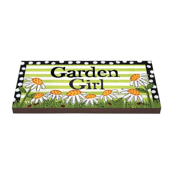 Garden Girl Stepping Stone by Studio M