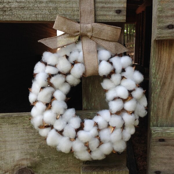 Faux Cotton 14 Wreath by Gracie Oaks