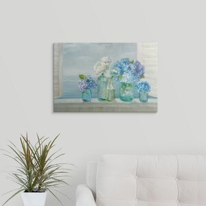 Coastal Bouquet Crop by Danhui Nai Painting Print on Wrapped Canvas by Great Big Canvas