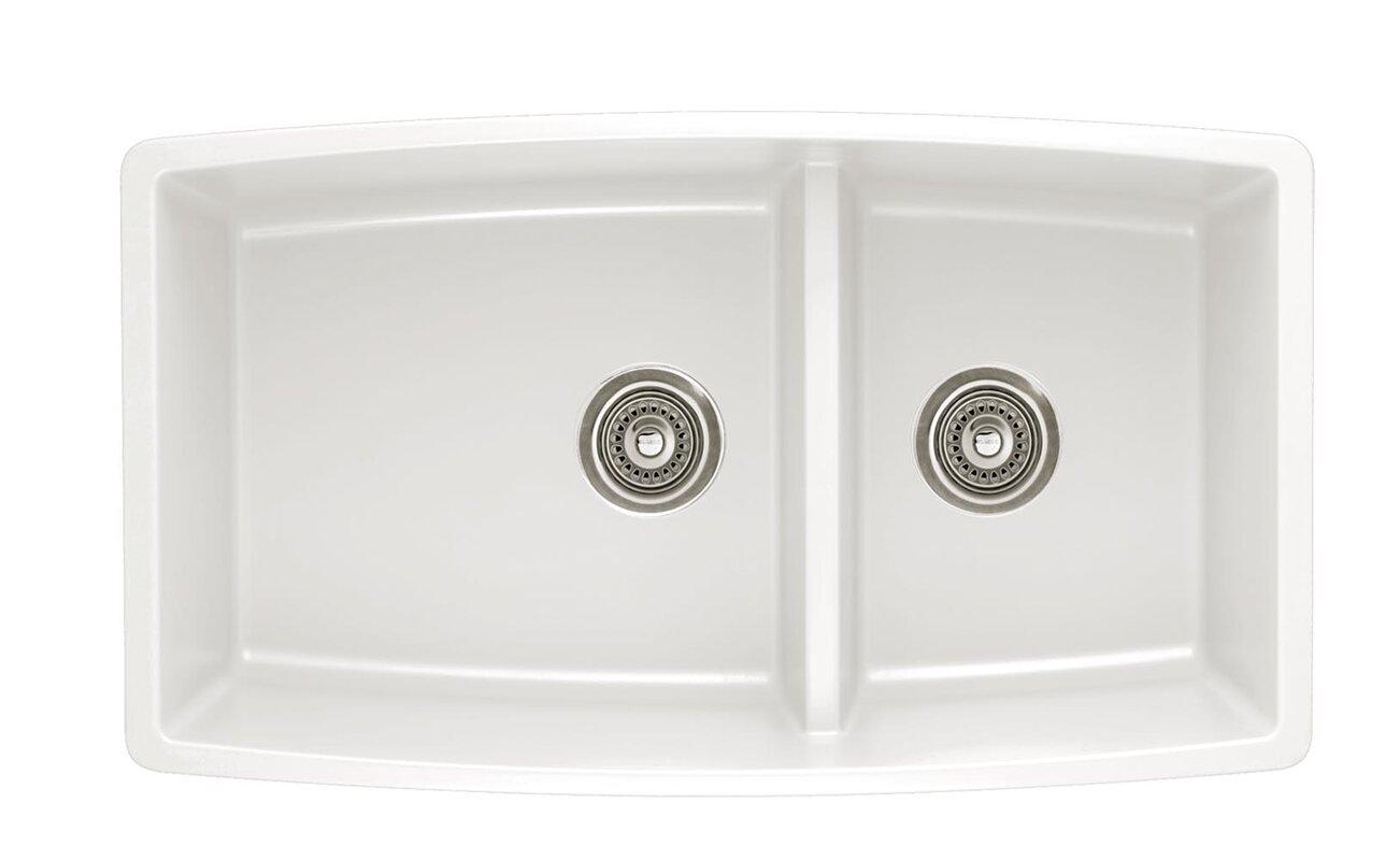 performa 33   x 19   2 basin undermount kitchen sink blanco performa 33   x 19   2 basin undermount kitchen sink      rh   wayfair com