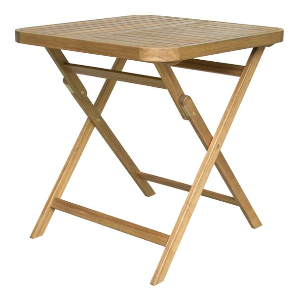 Dunagan Folding  Solid Wood Dining Table by Highland Dunes