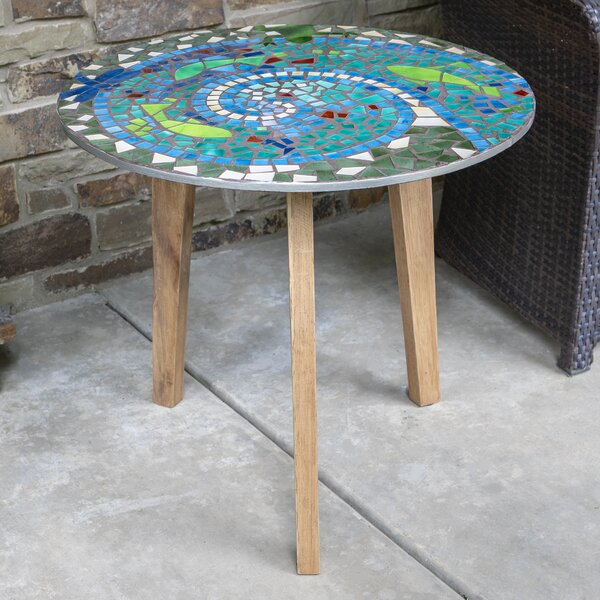 Dieppe Mosaic End Table By World Menagerie