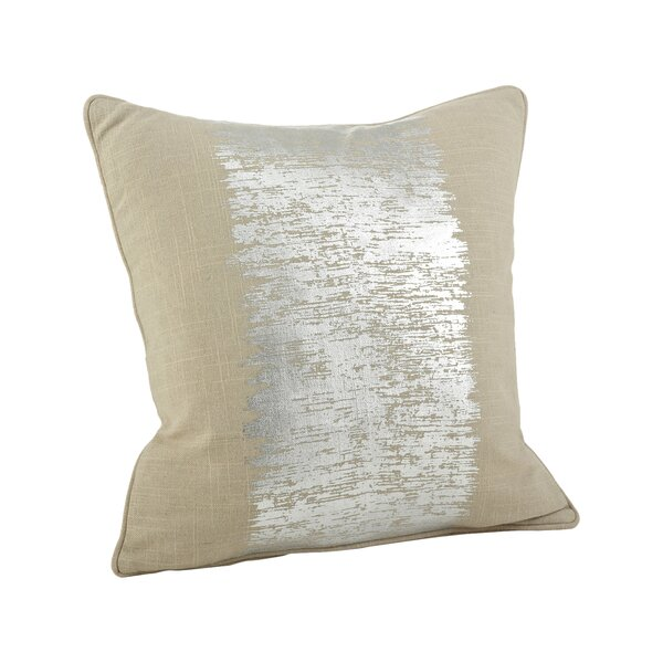 Halter Metallic Banded Cotton Throw Pillow by Mercury Row