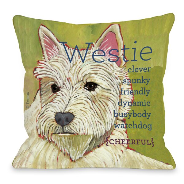 Doggy Décor Westie Throw Pillow by One Bella Casa