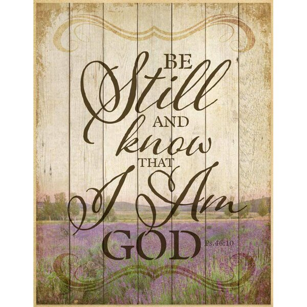 Be Still and Know… Textual Art Plaque by Dexsa