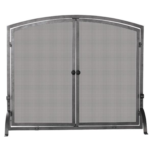 Olde World Single Panel Iron Steel Fireplace Screen By Uniflame
