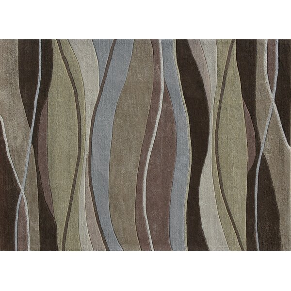 Hixon Hand-Tufted Brown/Green Area Rug by Winston Porter