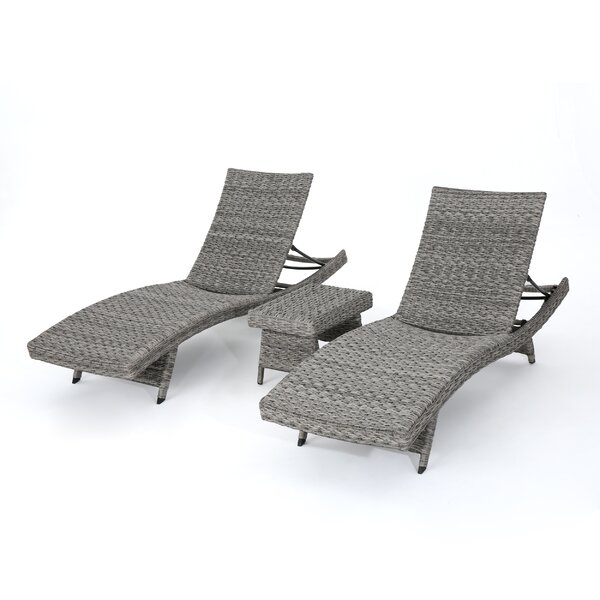 Lebel Reclining Chaise Lounge with Table by Latitude Run