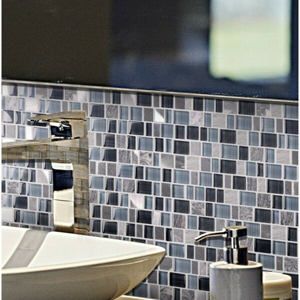 Cubemax Random Sized Mixed Material Tile in Gray/Blue by Multile