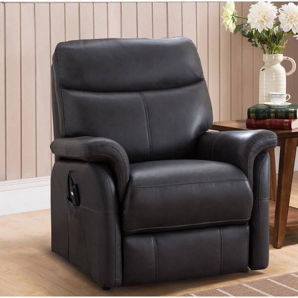 Xzavier Leather Power Lift Assist Recliner [Red Barrel Studio]