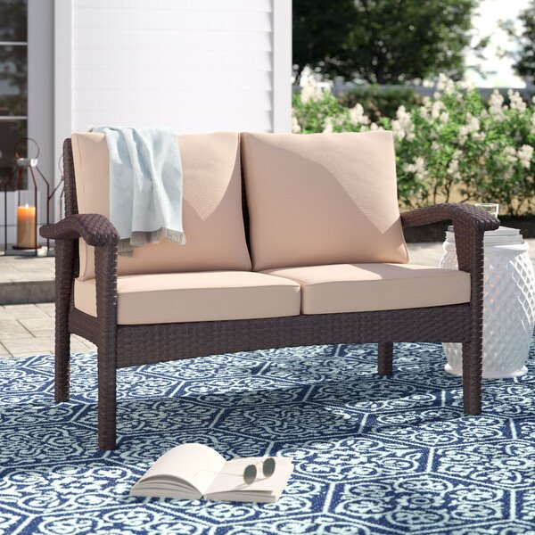 Hagler Loveseat with Cushions by Sol 72 Outdoor