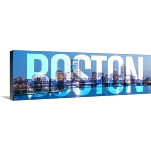 'Boston Skyline, Transparent Overlay' Graphic Art Print on Wrapped Canvas by Great Big Canvas