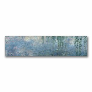 Waterlillies Morning by Claude Monet Painting Print on Wrapped Canvas by Trademark Fine Art