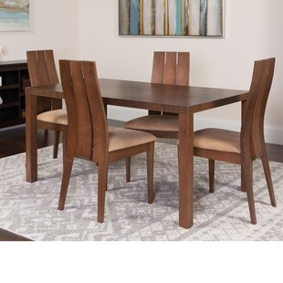 Hudgins 5 Piece Solid Wood Dining Set by Winston Porter
