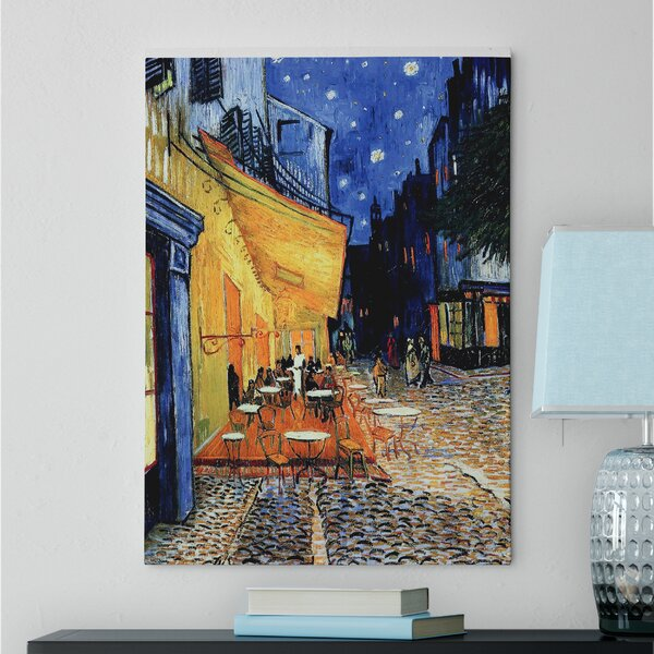 The Caf Terrace By Vincent Van Gogh Oil Painting Print On Canvas In Blue Orange By Red Barrel Studio.
