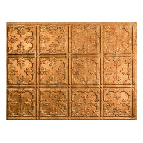 Traditional 10 1.5 ft. x 2 ft. PVC Backsplash Panel in Muted Gold by Fasade
