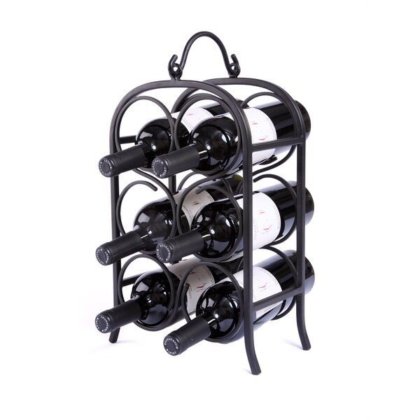 Valadez Arch 6 Bottle Tabletop Wine Bottle Rack by Fleur De Lis Living Fleur De Lis Living