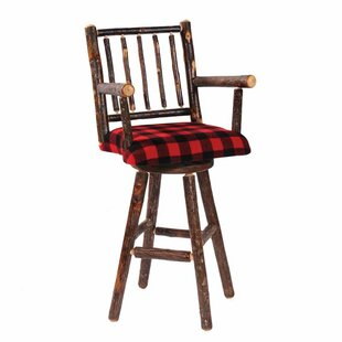 Hickory 24 Swivel Bar Stool by Fireside Lodge
