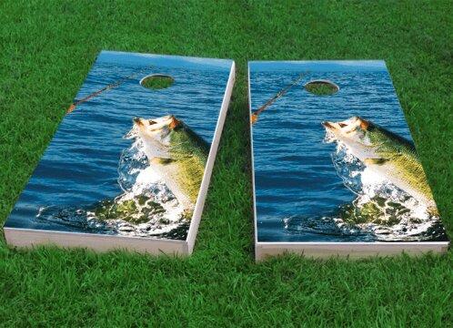 Bass Fishing Cornhole Game (Set of 2) by Custom Cornhole Boards