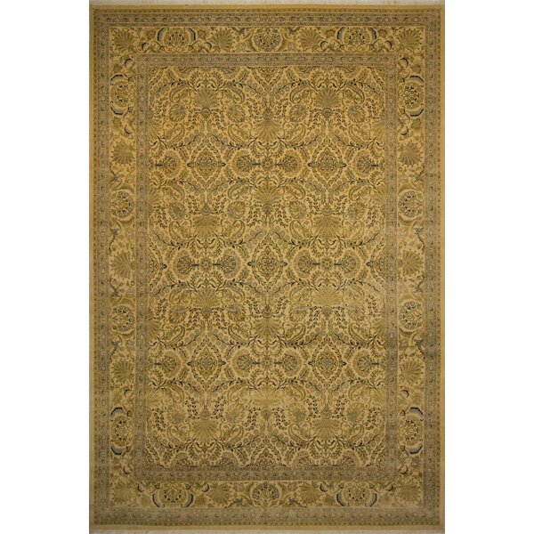 Roessler Hand Knotted Wool Beige Area Rug by Astoria Grand
