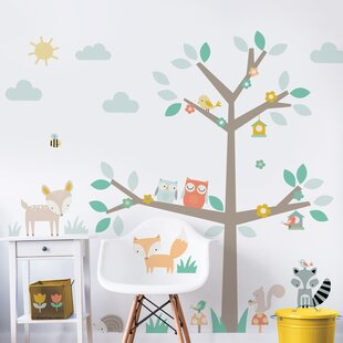 Woodland Tree Friends Wall Sticker