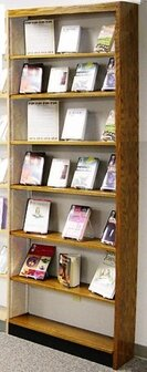 Home & Outdoor Single Face Adder Standard Bookcase