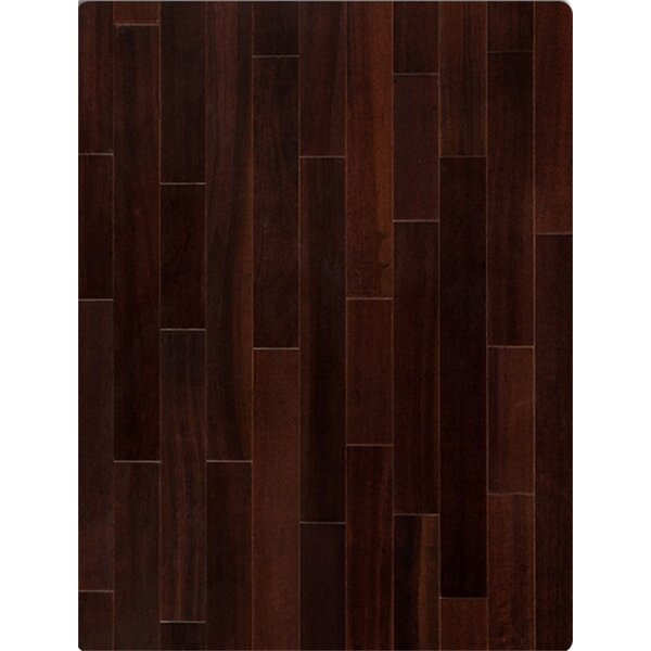 Augusta 5 Solid Brazilian Cherry Hardwood Flooring in Chocolate by Welles Hardwood