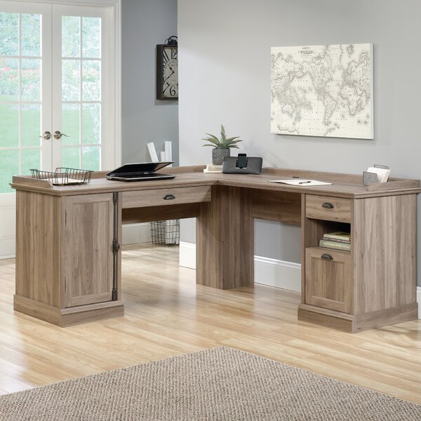 Bowerbank L-Shaped Executive Desk by Beachcrest Home